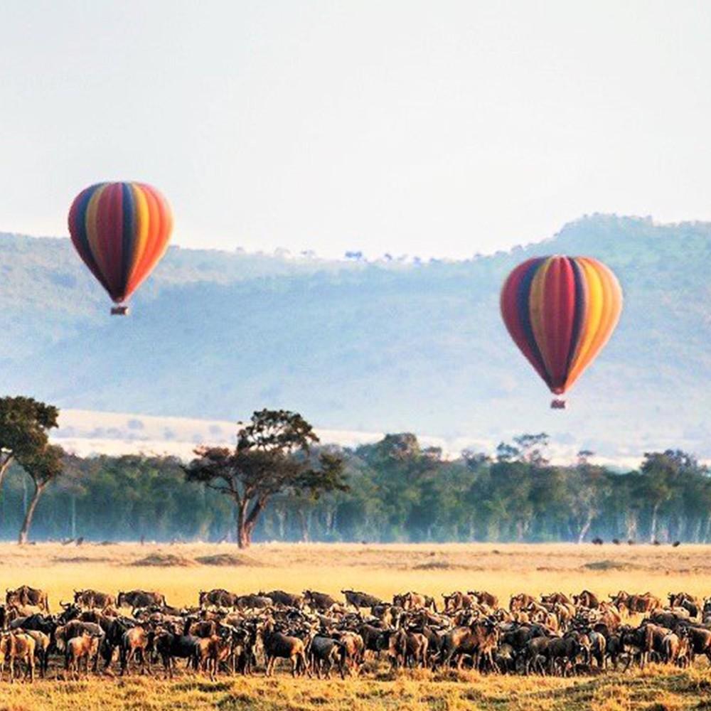 Viaje en globo por el Serengeti
