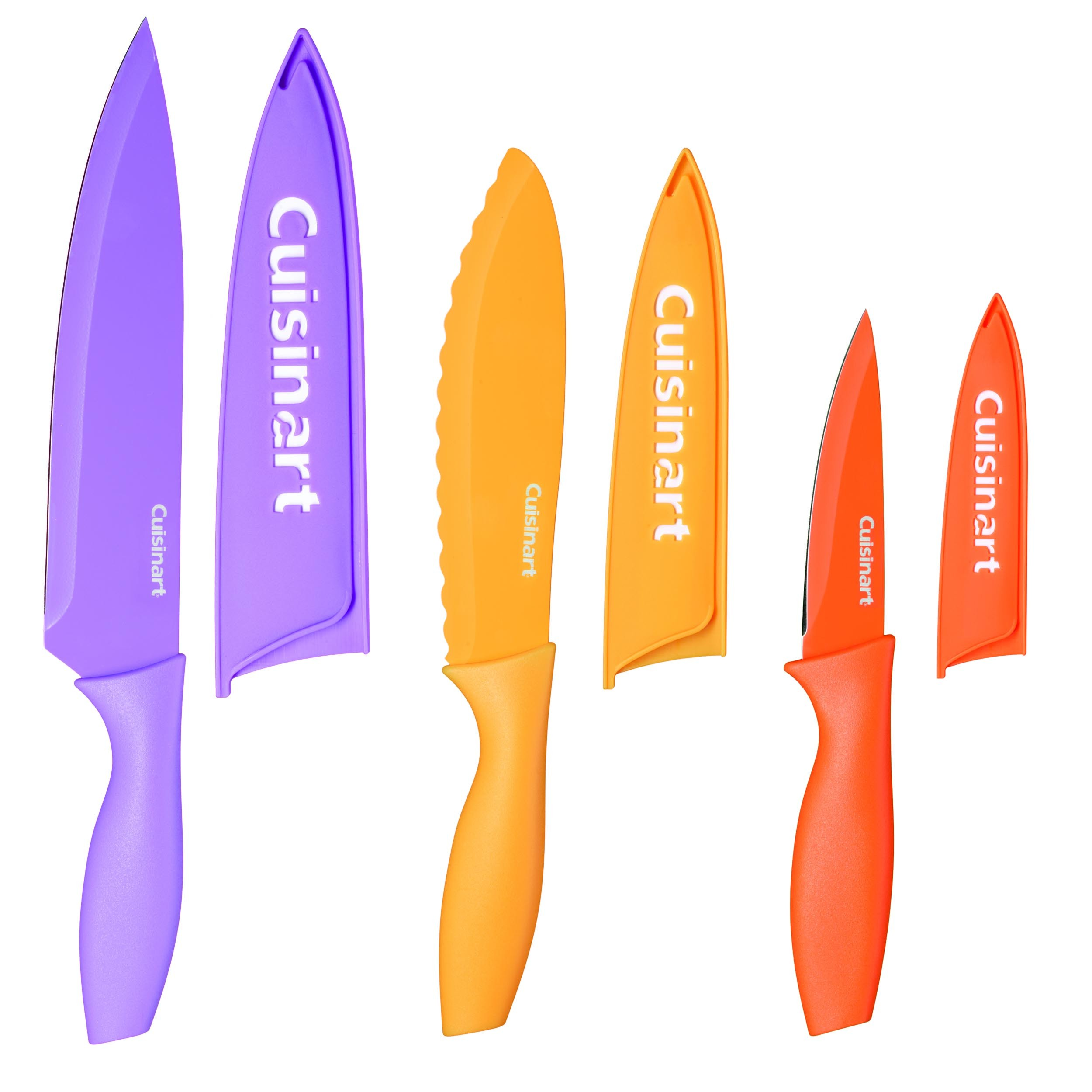 Set de cuchillos de color y protectores 6 pzs