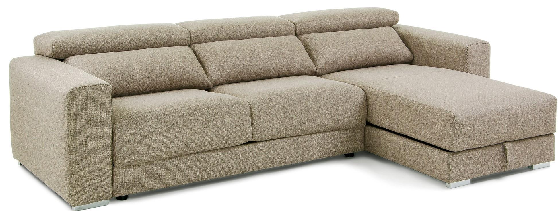 Takian Sofá 3 Plazas + Chaise Lounge Beige