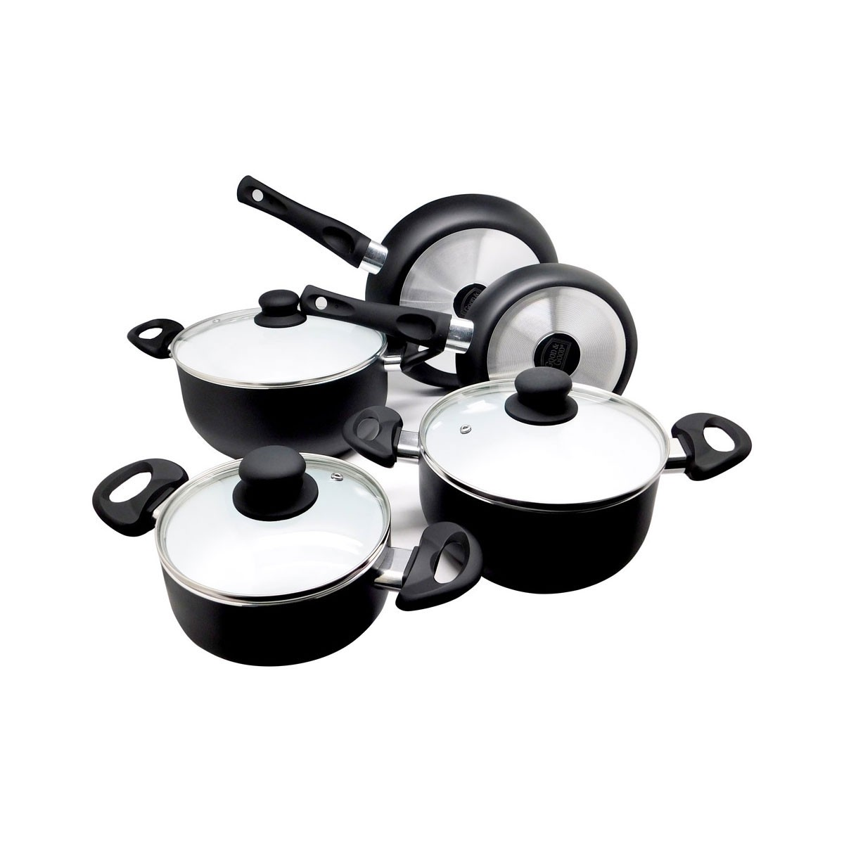 Batería de cocina negra 8 piezas