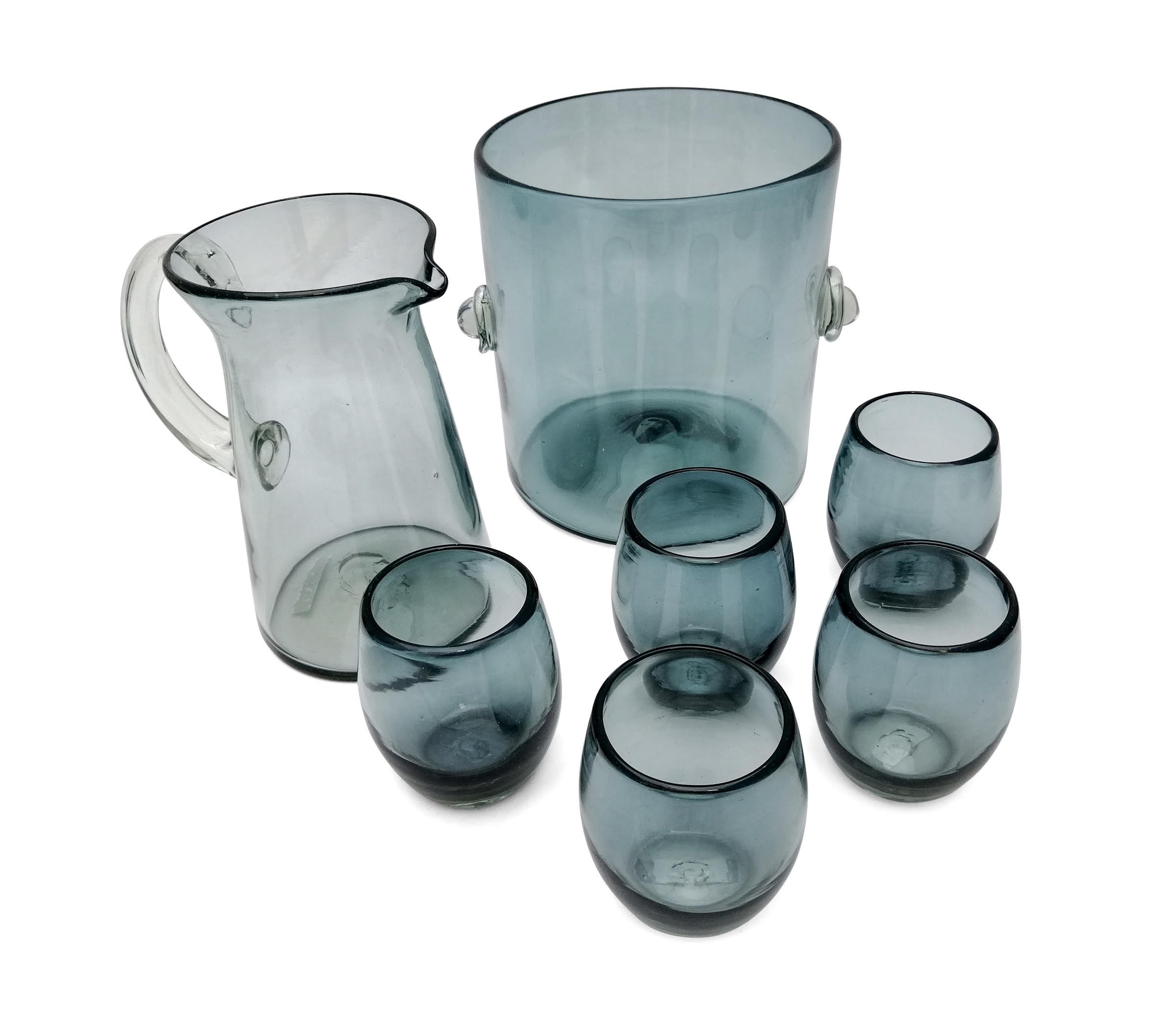 Set Bar Vidrio Soplado Humo