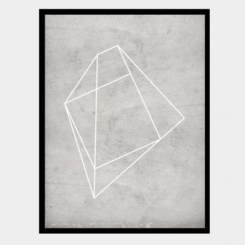Cuadro Polígono Gris 1