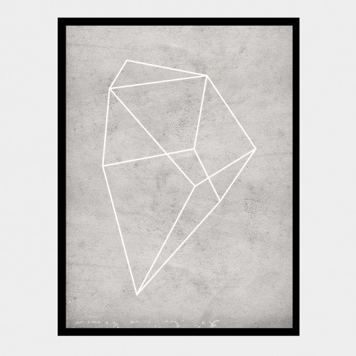 Cuadro Polígono Gris 3