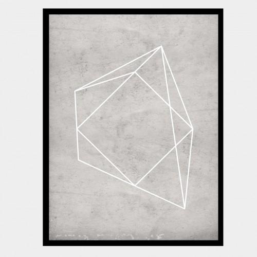 Cuadro Polígono Gris 4