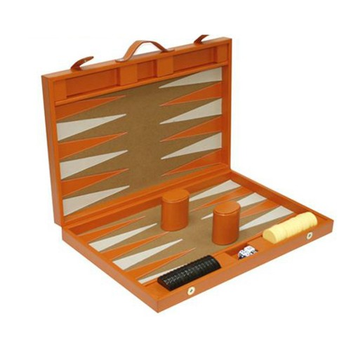 Backgammon grande de piel