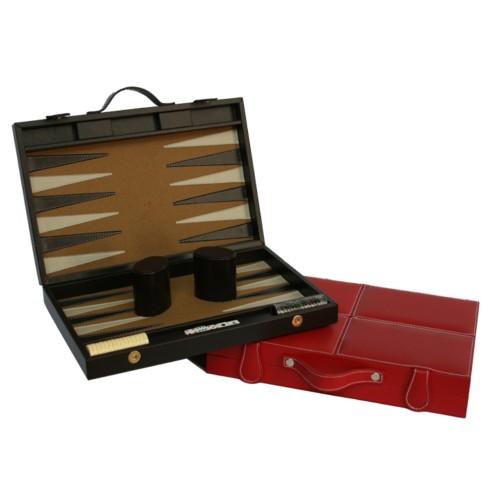 Backgammon mediano de piel