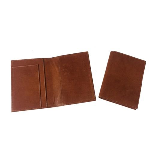 Porta pasaporte piel