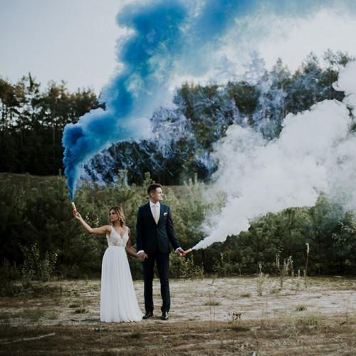 Bomba de humo azul set 5