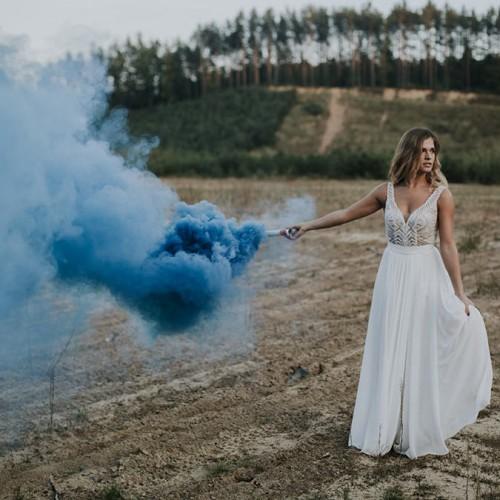 Bomba de humo azul 40 segundos