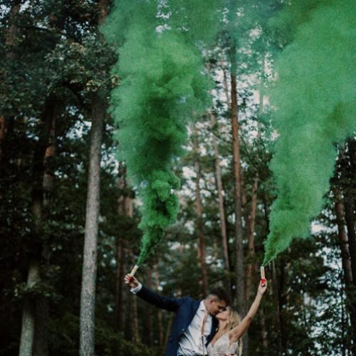 Bomba de humo verde 40 segundos