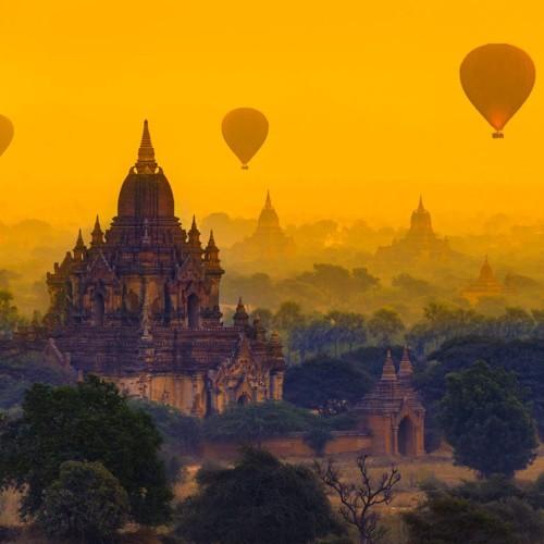 Viaje en globo por Bagan, Myanmar