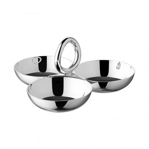 Bowl de snacks Vertigo silver-plated Pequeño