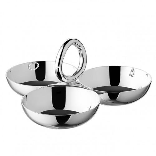 Bowl de snacks Vertigo silver-plated Grande