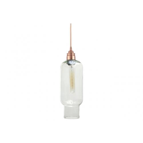Lámpara Tulum Transparente Oro Rosa