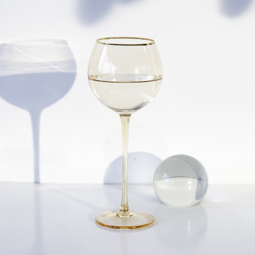 Set 4 copas cristal para vino Ensenada Ámbar