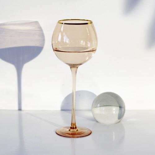 Set 4 copas cristal para vino Ensenada Coral