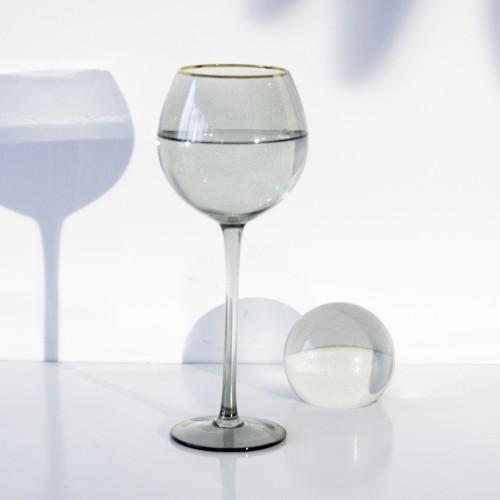 Set 4 copas cristal para vino Ensenada Eucalipto