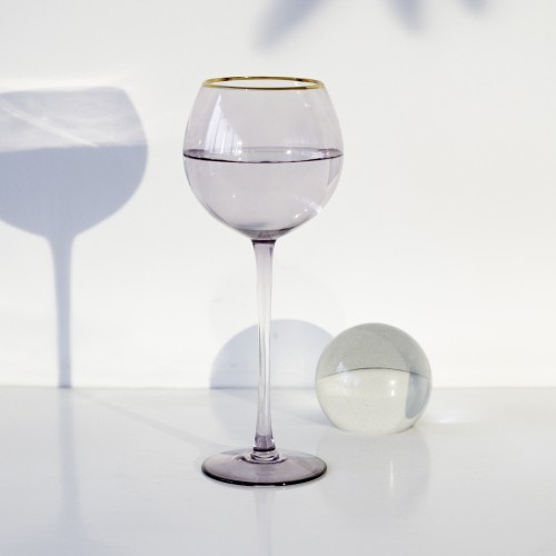 Set 4 copas cristal para vino Ensenada Hortensia