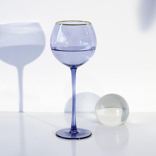 Set 4 copas cristal para vino Ensenada Pacífico Filo Oro