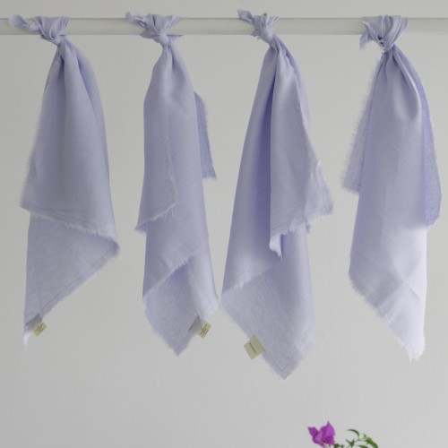 Set 4 servilletas lino Chetumal Cielo
