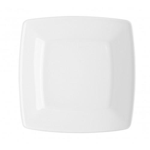 Set de 6 Platos ensaladeros cuadrados de porcelana