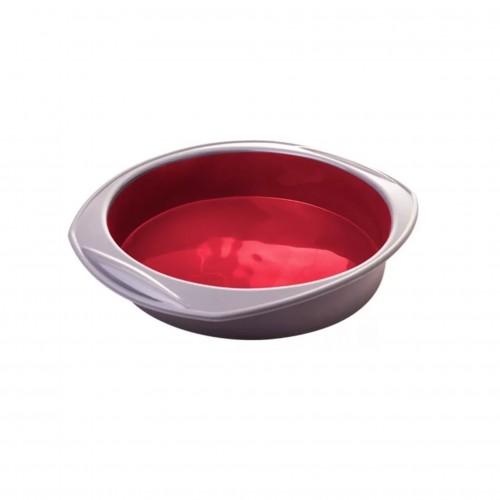 Molde circular para pasteles de silicón Rojo