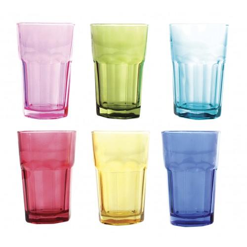 Set de 6 vasos de vidrio