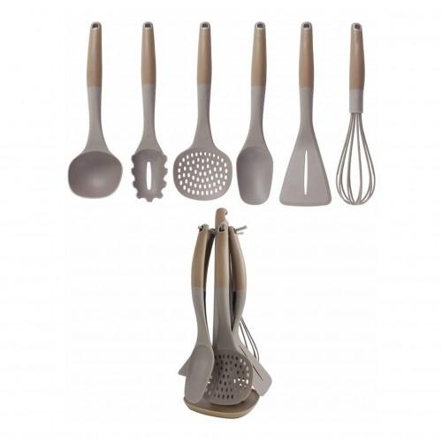Set de utensilios de plástico con rack