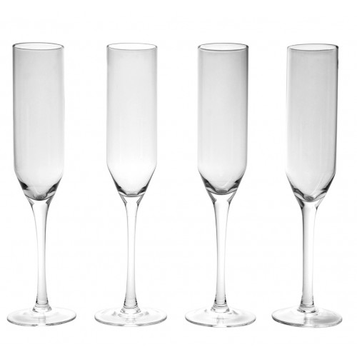 Luena Flauta Set de copas flauta de vidrio