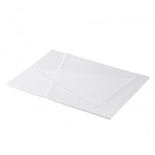 Set de 6 Platos rectangulares de porcelana de 36.5 cm