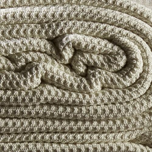 Cobija King Size Xiang Bambú Blanket Crudo