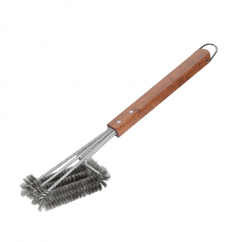 Cepillo para Parrilla de Acero Inoxidable y Madera