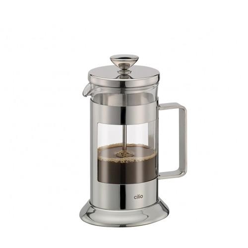 Cafetera Tipo Prensa de Acero Inoxidable Pulido para 6 Tazas