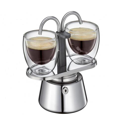 Cafetera de Acero Inoxidable para 2 Tazas