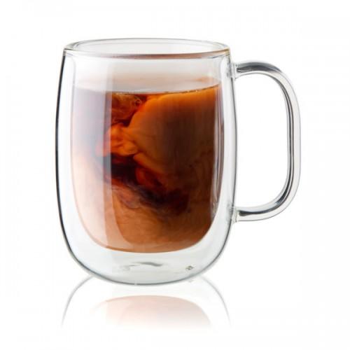 Set de 2 Tazas De Vidrio Para Café Sorrento