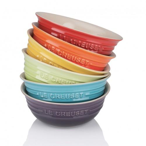 Le Creuset Set De 6 Bowls Rainbow