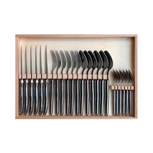 Juego de 24 cubiertos pulido espejo – Acero inoxidable