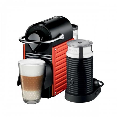 Combo cafetera Pixie Electric Red y Aeroccino 3 Nespresso