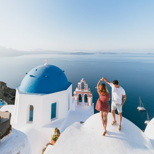 Sesión de Fotos Luna de Miel Grecia