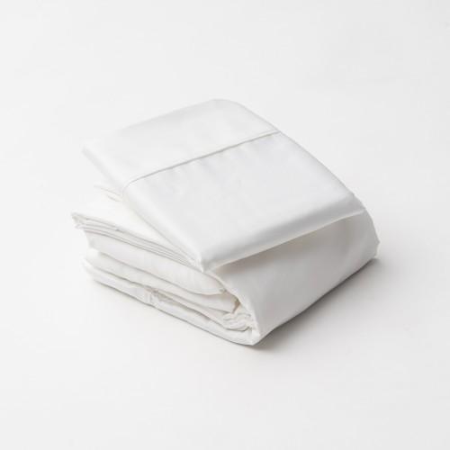 Juego de sábanas satín, 100% algodón, 300 hilos QUEEN SIZE