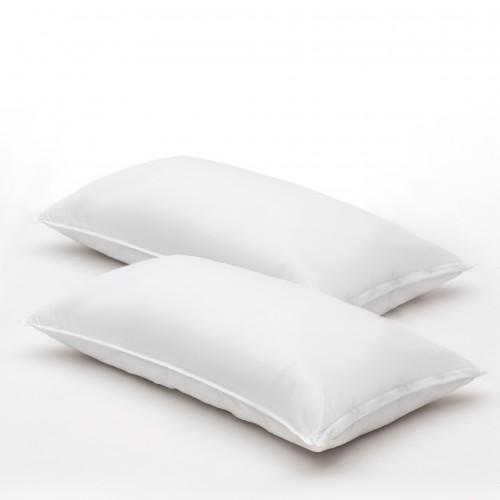 Almohadas de fibragel, microfibra, firmes con funda protectora KING SIZE (pack de 2)