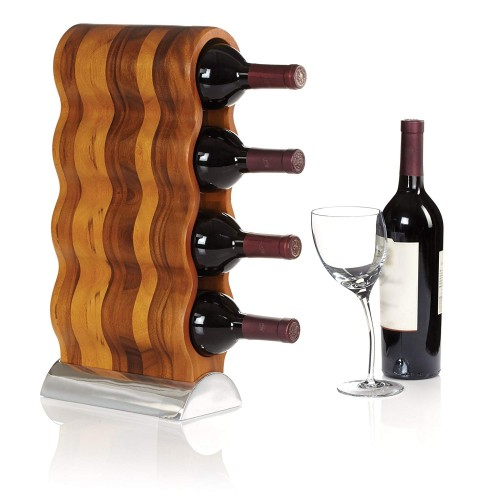 Curvo Wine Rack para 4 botellas