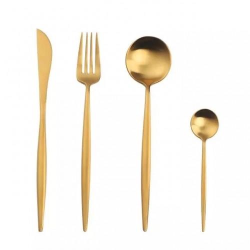 Fusion set de 4 cubiertos dorado