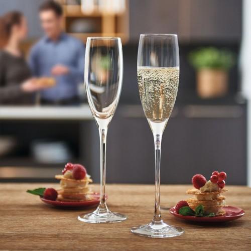 Set de 6 Copas para Champagne Flauta 200 ml Cheers