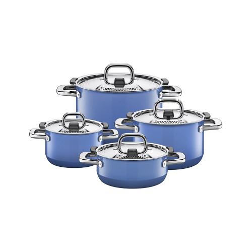 Batería de cocina azul 4 pzas Nature