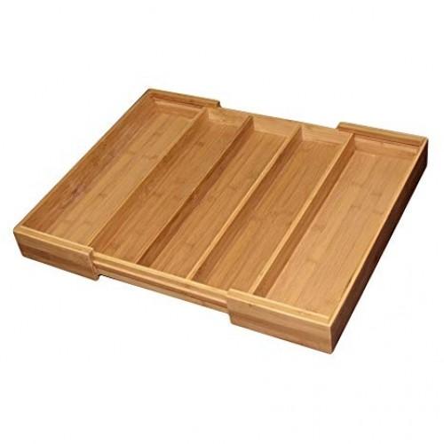Organizador de Utensilios Expandible de Bamboo