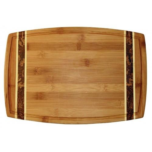 "15"" Tabla Para Cortar Marbled De Bamboo"