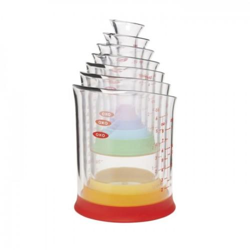 Set de Vasos Medidores Plástico Dif. Capacidad 7 Piezas