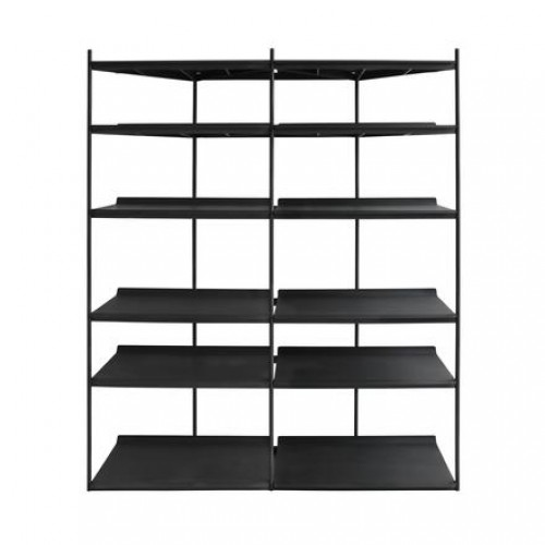 Librero Duet - Doble Metal Negro