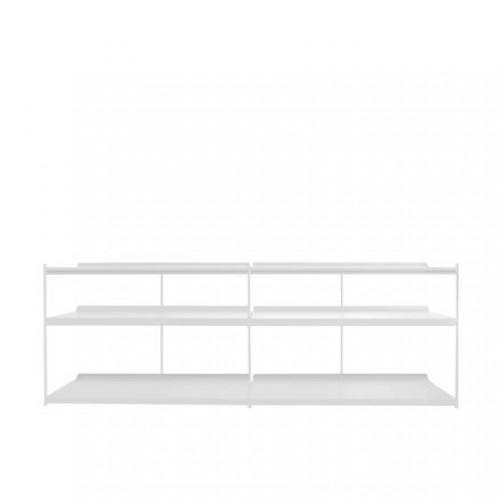 Librero Duet - Low Metal Blanco